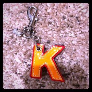 NWOT K coach keychain